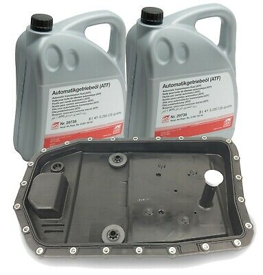 Automatic Transmission Filter Kit & Oil Pan with10-Liters Trani Fluid Febi ZF