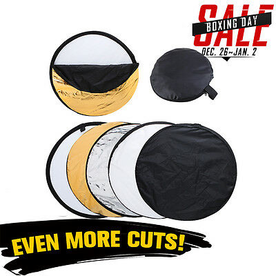 Photo Photography 110cm 5 in 1 Collapsible Multi Light Reflector Studio UK Local