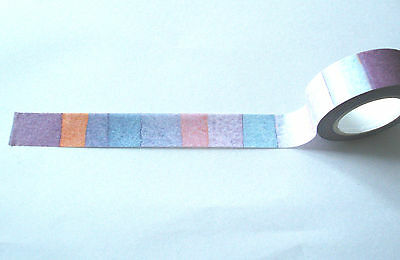 watercolour pink and purple stripes washi tape 15mm wide 10m roll kawaii