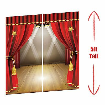5ft Big Theatre Stage Scene Setter Movie Oscar Hollywood Awards Party Decoration