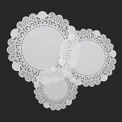 "Lacette White Round Paper Lace Doyleys Doylies Doilies 6.5""/16.5cm Pack of 250"