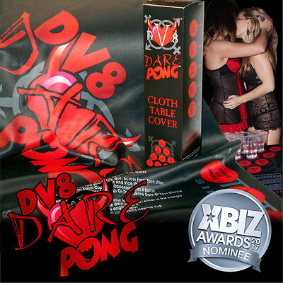 Dv8 Dare Pong™ Cloth 6Ft Pong Table Cover - The Sexy Alternative To Beer Pong