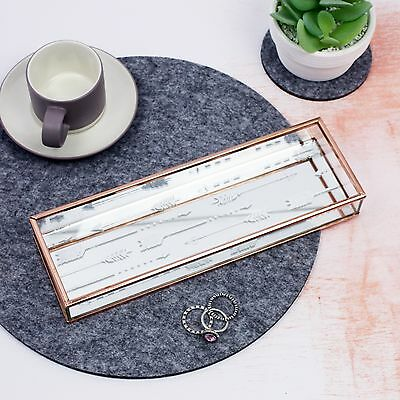 Jewellery Box - Rose Gold and Glass Jewellery Tray - Tribal arrows - Necklaces
