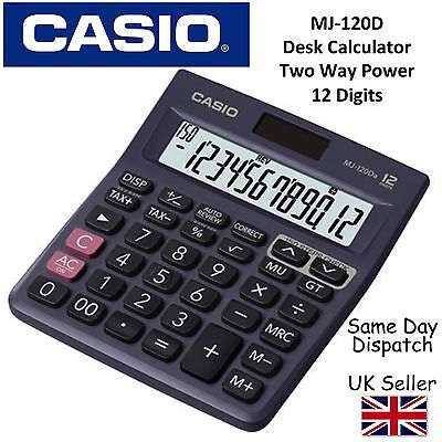 CASIO MJ120D MJ-120D DESKTOP CALCULATOR -12 digit display,150 step recheck