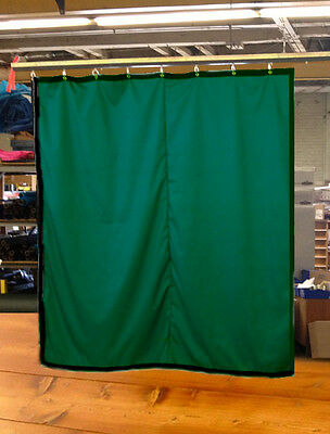 Hunter Green Curtain/Stage Backdrop/Partition, Non-FR, 12 H x 11 W