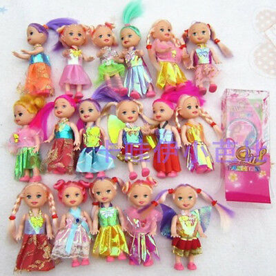 10 pcs Hot-Selling play house Accessories (doll+clothes) For Barbie doll Kelly