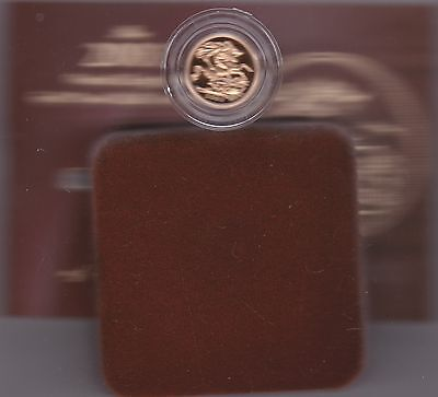 Boxed 2003 Proof Gold Half Sovereign With Certificate