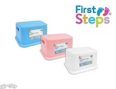 First Steps Children's Kids Step Rubber Grip Non Slip Stool Toilet Step Up Aid