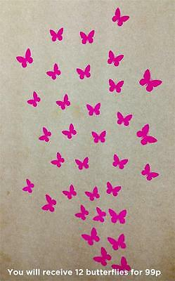 Butterfly Wall Stickers! Butterflies Transfer, Home Art Decor Girl Decal New