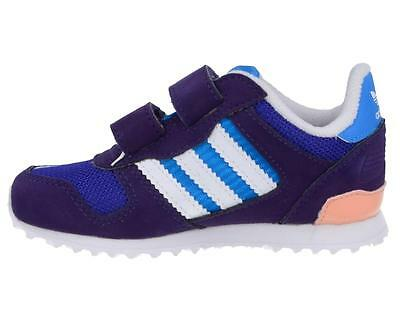 *adidas Originals Kids Junior Toddler ZX 700 CF I Purple/Blue/White/Pink