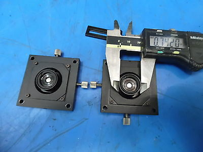 """Lot of 2 2"""" x 2"""" X Y Adjustable Mirror or Laser Optic Positioners"""
