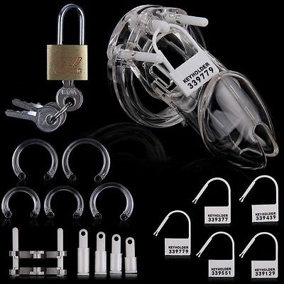 Small Clear Plastic Male Chastity Device/Belt Cage Gimp Sissy Keuschheitsgürtel