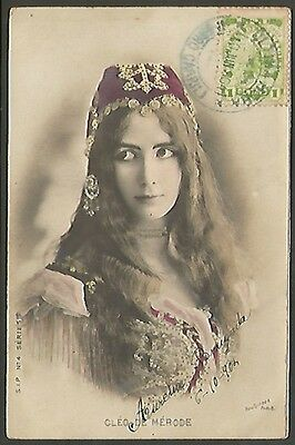 R Photo Studio Cleo De Merode Opera Dancer 1904 Postcard