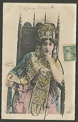 R Photo Studio La Bella Otero Spain Dancer 1901 Postcard