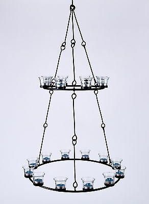 Tea Light Chandelier (Double Tier) by Bell Tent Boutique