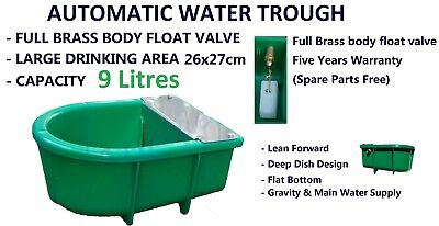 Automatic Float Valve 9L Water Trough Drinking Bowls 9 L Stock Waterer 4 Horse