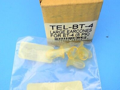 5-pack TELEX BT-4 LARGE EARCONCES for ET-2 Telethin Headset Part Ear Cones NOS