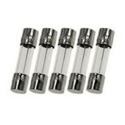 5x BUSSMANN/SCHURTER, GDC 250mA (0.25A) 250V Slow Blow (Time Delay) GLASS fuses