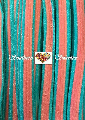 Tnt Blue & Pink Rapsberry Sour Straps 1.4Kg Candy Buffet Lollies Approx 200Ct