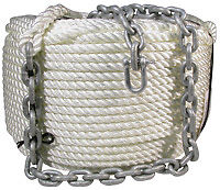 Anchor Winch Rope and Chain - 12mm x 50Mtr+ 5Mtr Chain