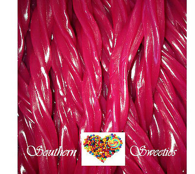 RASPBERRY TWISTERS 90CT 1KG RED LOLLIES Twister Candy buffet