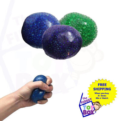 Bead filled anti stress ball sensory calming autism toy anxiety squishy squeeze