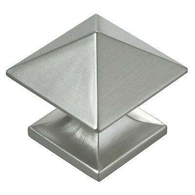 Hickory P3015-SS Studio Cabinet Knob Stainless Steel Square Pyramid Kitchen Pull
