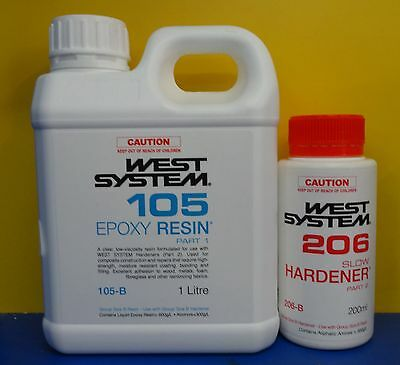 West System Epoxy Resin Kit (H206 Slow Hardener) - 1.2Ltr Kit