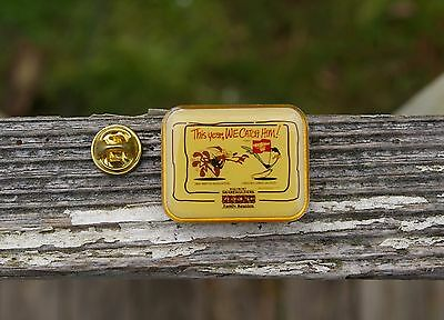 Wal-Mart This Year We Get Him Wile E Coyote Road Runner Employee Pin Pinback