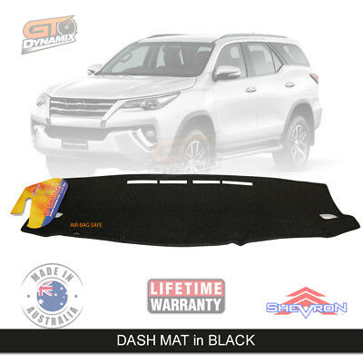 DASH MAT to Suit Toyota Fortuner GX GXL Crusade in BLACK Aug/2015-2019 DM1413