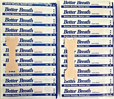 200 Breath Right Advanced Nasal Strips Clear Reduce Snoring Better S/M/L
