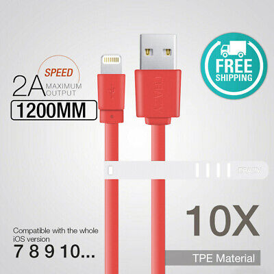 10 x CRAZY USB Data Sync Lightning Charger cable for iPhone 7 6 5S 8 XR max iPad