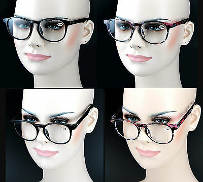 Fashion Reading Glasses Readers  Retro Vintage Big Large Round Frame 2 Colors