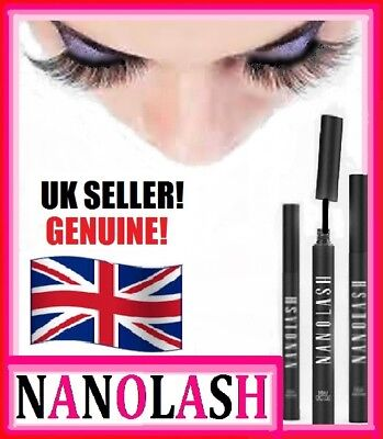 **NANOLASH**EYELASH SERUM, CONDITIONER, GROWTH*3ml*100% AUTHENTIC*REAL UK STOCK!