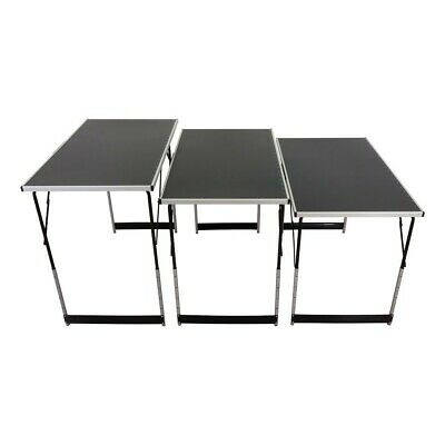 Wallpaper Pasting Table Set of 3 Trestle Tables Collapsible Height Adjustable