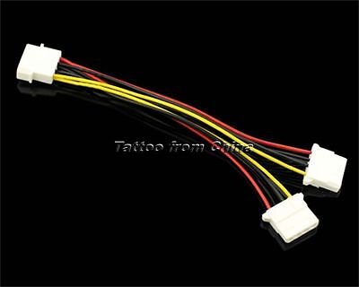 "7.87"" 4pin IDE Molex Power Supply 1 Male to 2 Female Y Splitter Extension Cable"