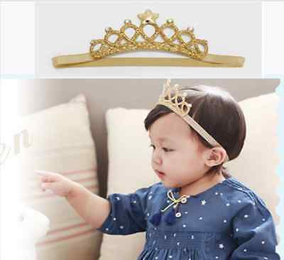 1Pc Girl Princess Headband Baby Hair Band Crown Tiara Toddler Girls Headband