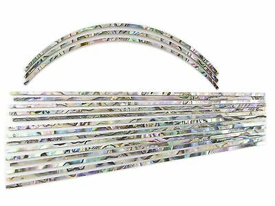 Guitar Purfling Inlay Set - Ablam Laminate Abalone, Long Strips (17 pcs)