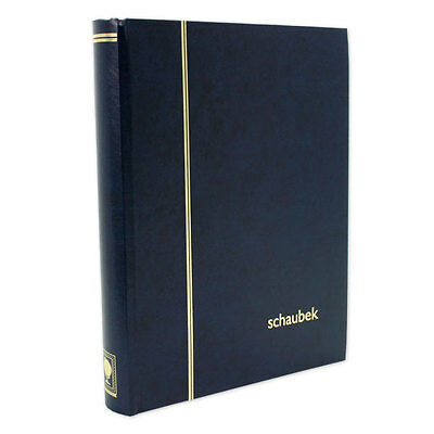 Stamps Stockbook. Black pages with Navy Blue Cover. 32 pages/64 sides.