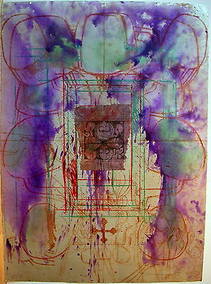 "Hermann Nitsch ""Ohne Titel, Collage/Unikatradierung 2009"""