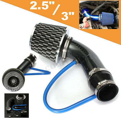 Black 2.5''- 3.0'' Car Cold Air Intake Filter Induction Hose Pipe Kit & Filter