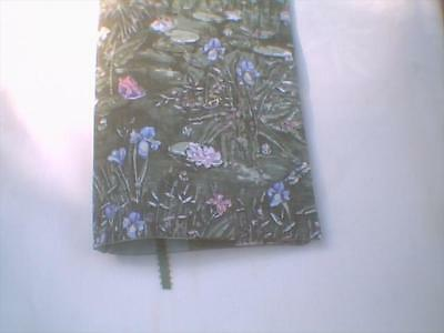 Fabric book cover 5 1/2 x 8 1/2 Butterflies Lily Pond