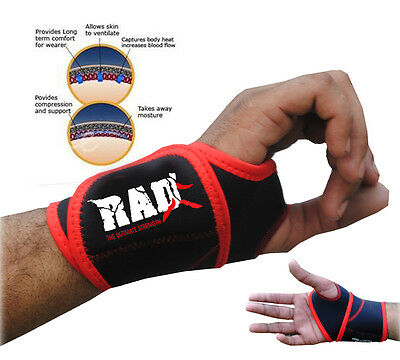 Rad 1 Pair Neoprene Wrist Thumb Brace Support GYM Weight Lifting Wraps Strap New
