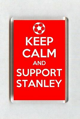 Keep Calm And Support Football Fridge Magnet - Accrington Stanley