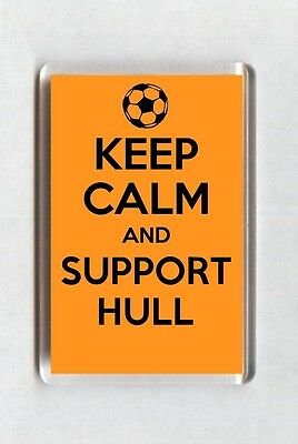 Keep Calm And Support Football Fridge Magnet - Hull City