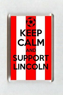 Keep Calm And Support Football Fridge Magnet - Lincoln City