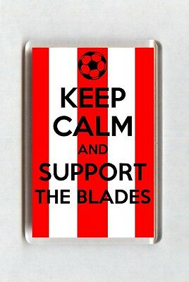Keep Calm And Support Football Fridge Magnet - Sheffield United