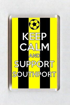 Keep Calm And Support Football Fridge Magnet - Southport