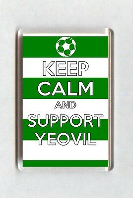 Keep Calm And Support Football Fridge Magnet - Yeovil Town