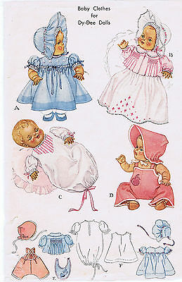 "713 Vintage Chubby Baby Doll Pattern - Size 11"" - Year 1956"